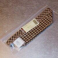 Longaberger Khaki Check BISCUIT Basket Liner SMALL LOAF ~ Made in USA ~ New!