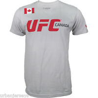 UFC Worldview Canada Silver/Grey Training T-Shirt  Sizes S-3XL  NWT