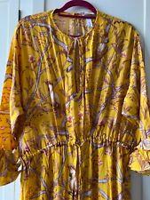 BNWT Maxi Vestido Amarillo Johanna Ortiz en niveles XL