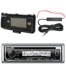 Kenwood Marine CD Bluetooth Radio w/ Cover, Enrock Amp Booster Kit
