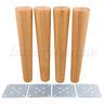 4PCS Height Wood Tapered Furniture Feet Sofa Tea Table Legs 30x6x3.5cm
