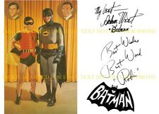 BATMAN AND ROBIN CAST SIGNED AUTOGRAPH 6x9 RP PROMO PHOTO BURT WARD & ADAM WEST