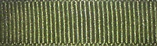 6mm Berisfords Moss Green Grosgrain Ribbon 20m Reel