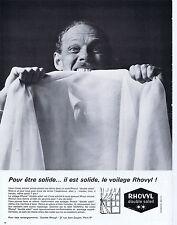 PUBLICITE ADVERTISING 054 1964 RHOVYL voilage double soleil