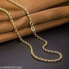 ONSALE 32INCH 18K Yellow Gold Necklace 2mm ROLO Chain Necklace / Au750