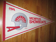 "1982 USFL MEMPHIS SHOWBOATS 30"" Pennant"