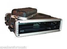 """2U Space Rack Case, 16.5"""" Deep Shell, Lightweight Amp Effects ABS w rack screws"""