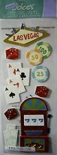 NEW 9 pc LAS VEGAS Vacation Slot Machine Casino Chips Cards JOLEE'S 3D Stickers