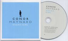 CONOR MAYNARD Vegas Girl 2012 UK 2-trk promo CD album / instrumental