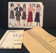 Vogue Basic Sewing Pattern 1061 Skirt 14 16 18 Uncut A Line Knee Calf Length FF