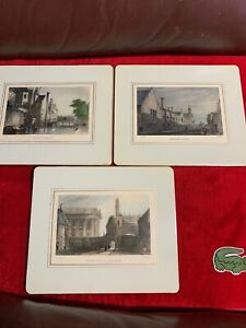 Lot Of 3  J.a. Bell antique tea tray -1800s postcards by / J. Le KeuxClassics