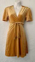 NWT Billabong Surplice Wrap Faux Velvet Short Sleeve Dress Sz S
