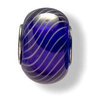 Mia Beads Muranoglas Bead echt Silber 925 Sterling blau Charm Bettelarmband
