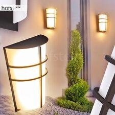 LED Hof Wand Leuchten Garten Beleuchtung Außen Veranda Terrassen Lampen schwarz