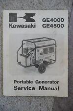 Kawasaki GE4000 GE4500 Portable Generator Service Repair Manual OEM