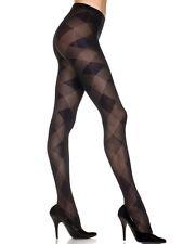 ML-7235 Sexy Black Large Diamond Design Elegant Winter Women's Pantyhose Hosiery