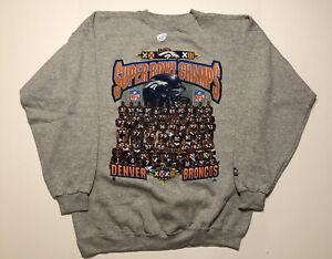 NWOT Starter Denver Broncos Super Bowl XXXII Champions Crewneck Sweater Large
