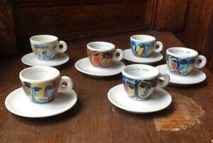 Sandro Chia illy 6 Espresso artist cups