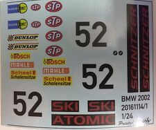 BMW 2002 Schnitzer 1/24 decalbogen