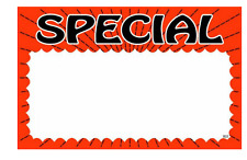 "100 - 5.5"" x 7"" Special Price cards for Retail Stores Nice Signage Signs"