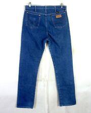vtg 80s Wrangler men's Blue Denim Straight Leg Jeans Regular long tall 36 X 38
