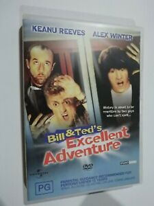 Bill & Ted's Excellent Adventure DVD Feat Keanu Reeves Alex Winter GOOD COND
