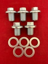 QTY 5: New OE Spec Engine Oil Drain Plugs & Gaskets For 21512-23000 21512-23001