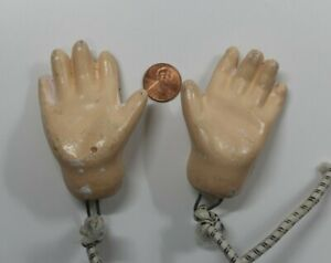 Antique Composition large a Pair of Doll Hands only (Doll Parts)