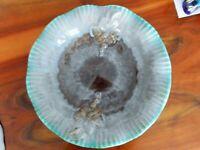 Keramik Schale groß Fat Lava STREHLA VEB Türkis/ grau 30er Jahre Modell 706