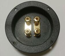 2x BAZOOKA Doppel Lautsprecher-Terminal Schraubanschluss Biamping #7319 PAAR