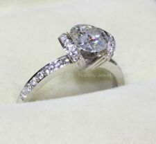 1.50Ct Round Cut Moissanite 925 Sterling Silver Tension Set Engagement Ring