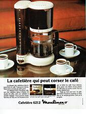 Publicité Advertising 127  1979  cafetière  éléctrique 6212 Moulinex