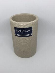 Nautica Home Bathroom Holder  ribbed texture tumbler decor  New