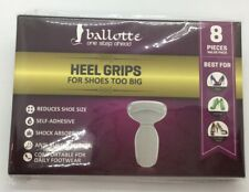 New Ballotte Heel Grips Cushion Inserts Pads For Shoes Too Big 8 Pieces Reusable
