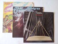 Three (3) Todd Rundgren / Utopia LPs. See details.