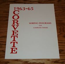 1963 1964 1965 Chevrolet Corvette Wiring Diagram Manual for Complete Chassis