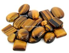250 Cts Untreated Top Natural Tiger Eye Cabochons Wholesale Gems Lot F