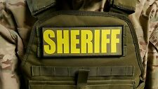 3x8 SHERIFF OD Green Yellow RAID Patch SWAT Hook Backed LEO Badge