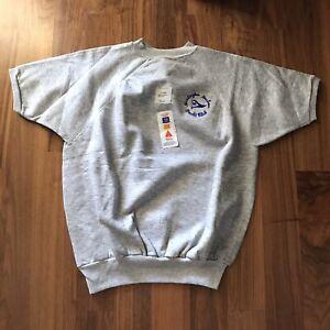 Vintage Short Sleeve Sweatshirt Huntington Harbor Sz XL New Old Stock NOS