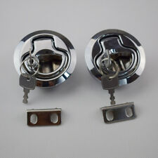 2PCS Flush Pull Hatch Latch Marine Boat bright chrome plated PA-6 For Sale