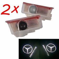 2Pcs Car Door Led Laser Projector for Mercedes AMG A B C E M GL class W205 W212