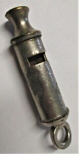 """Antique Vintage Police Whistle - """"The Home City Whistle"""" with """"Patent"""""""