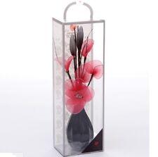 Rosso Ciliegia Mesh Net in ecopelle composizione floreale in Ceramica Bud Vase Home Decor