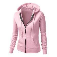 Women's Hoodies Jumper Sweatshirt Hooded Pullover Top Casual Sport Jacket Coat