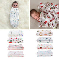 Muslin 100% Cotton Newborn Baby Soft Swaddles Blanket Infant Wrap Stroller Cover