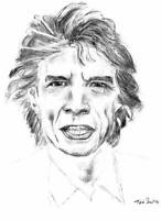 Sir Mick Jagger of the Rolling Stones Print on Canvas. 20x27 inches