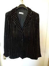 * SALE * Ladies Vintage 1980s Gerry Weber Designer Velvet Jacket Coat Prop Party