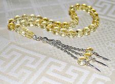 Genuine Lemon Baltic Amber 33 Round 7 mm Balls Islam Prayer Beads Misbaha Tasbih