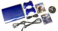 BLUE Sony PlayStation 3 PS3 SUPER SLIM ❄️320GB❄️Console + 2 Controllers 3 Games