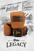 New Genuine Leather Fairtex Legacy Boxing Gloves Retro Classic Brown LatestModel